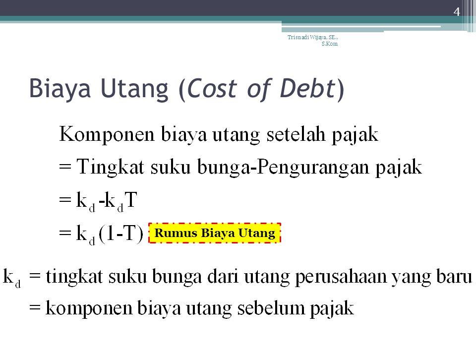 Biaya Saham Preferen 5 Trisnadi Wijaya, SE., S.Kom Biaya saham preferen adalah sama dengan tingkat keuntungan yang akan dinikmati pembeli saham preferen atau K p.