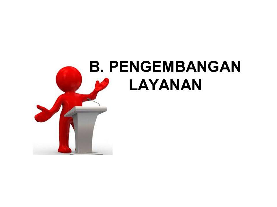 B. PENGEMBANGAN LAYANAN