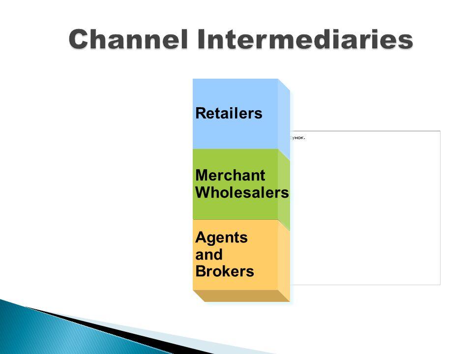Retailers MerchantWholesalers MerchantWholesalers AgentsandBrokers AgentsandBrokers