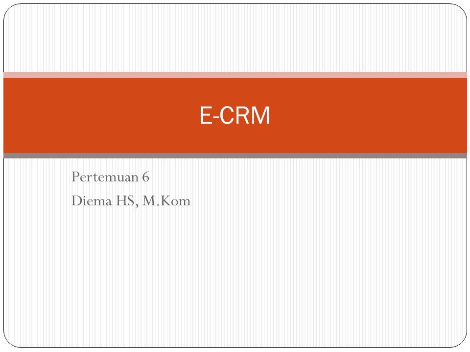 Pertemuan 6 Diema HS, M.Kom E-CRM