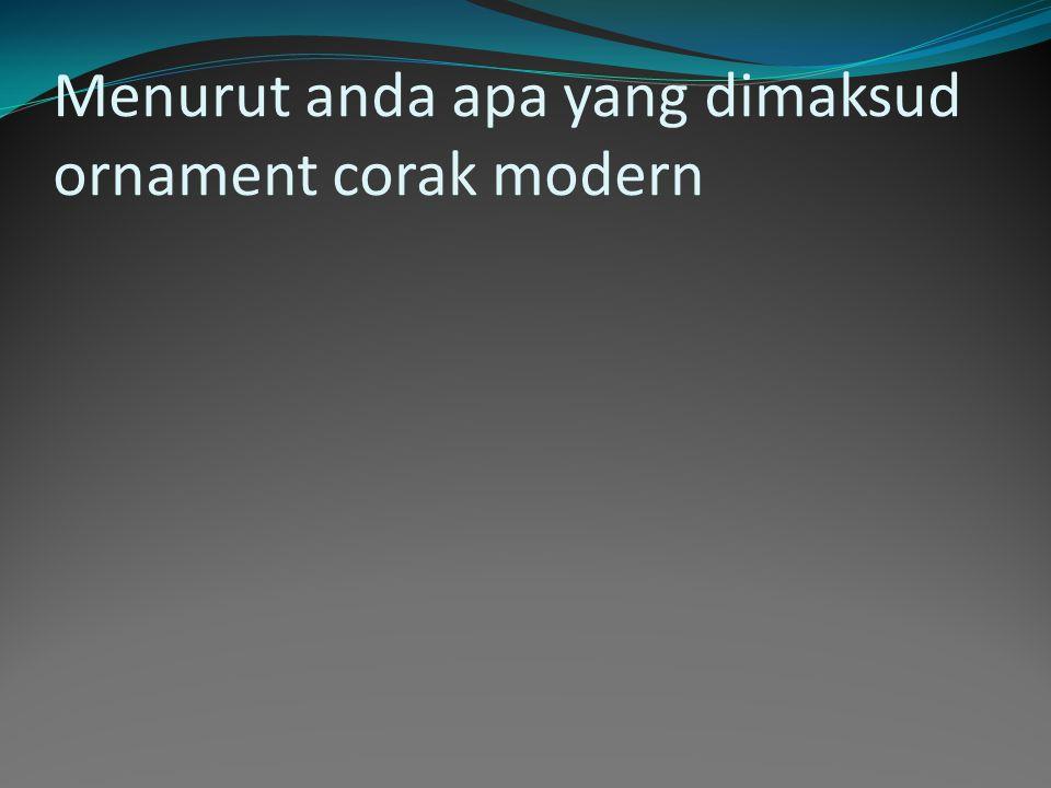 Contoh motif tradisional klasik dari dayak kalimantan