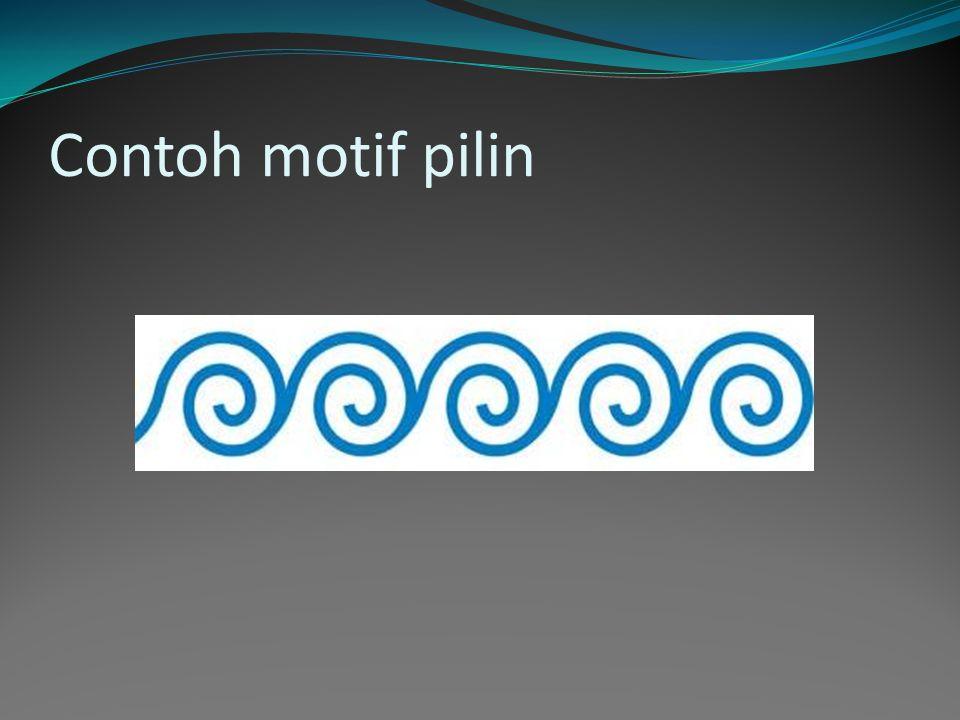 Contoh motif geometris meander