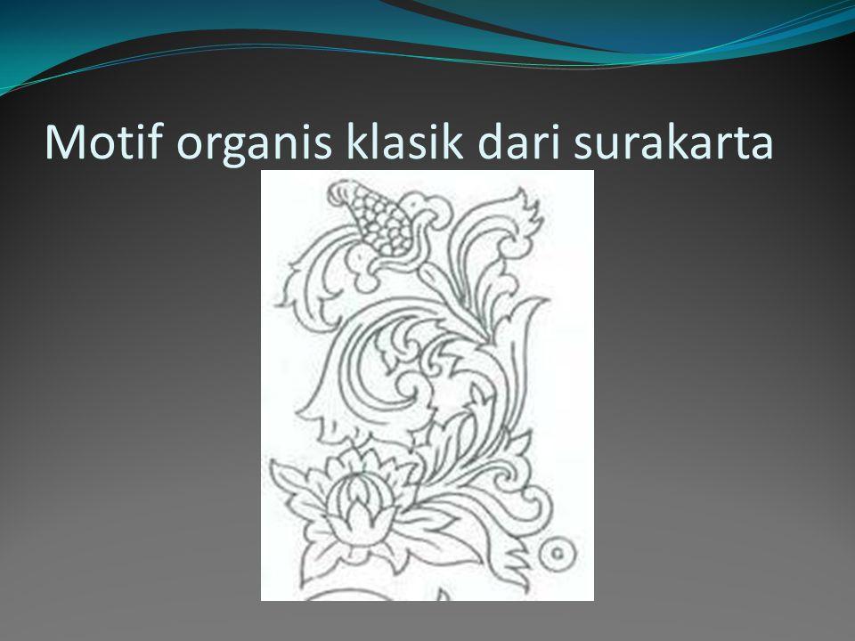 Motif organis klasik dari jepara jateng