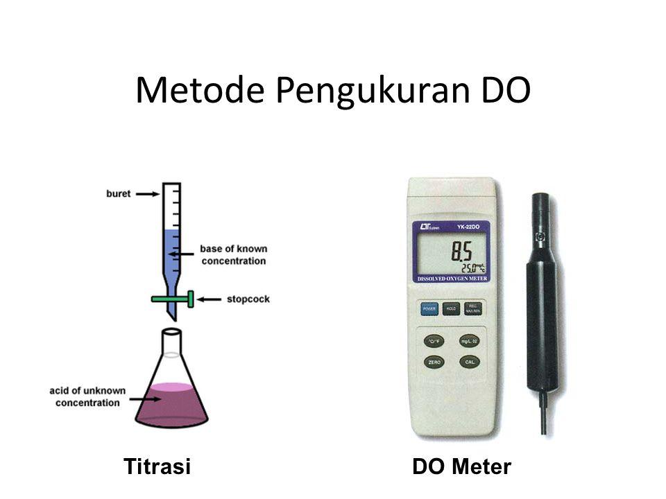 BOD (Biochemical Oxygent Demand) Nilai BOD digunakan untuk menunjukkan jumlah oksigen yang digunakan dalam reaksi oksidasi oleh bakteri (mikrobiologis).