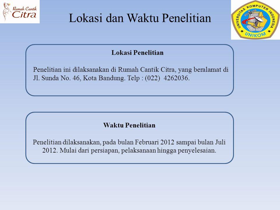 Lokasi dan Waktu Penelitian Waktu Penelitian Penelitian dilaksanakan, pada bulan Februari 2012 sampai bulan Juli 2012. Mulai dari persiapan, pelaksana