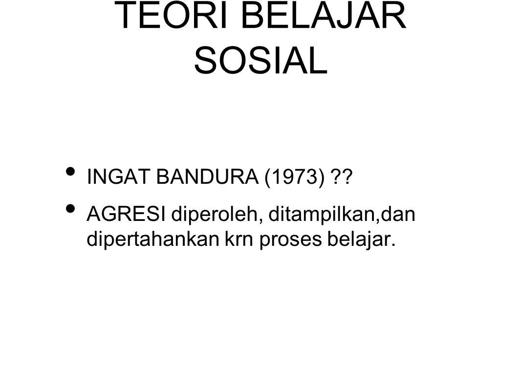 TEORI BELAJAR SOSIAL INGAT BANDURA (1973) ?.