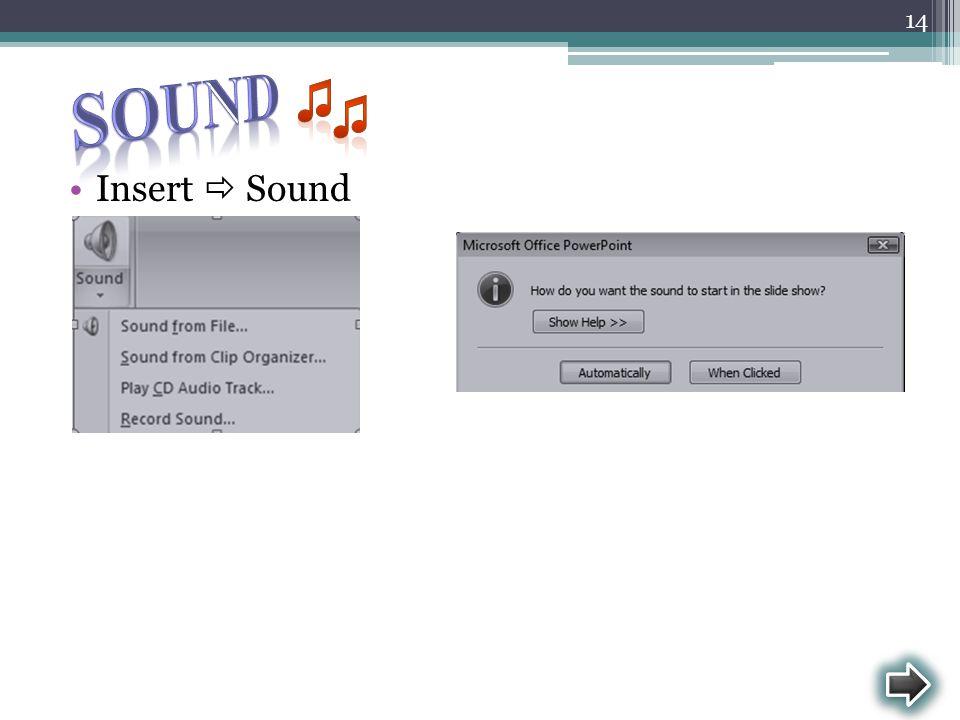 Insert  Sound 14