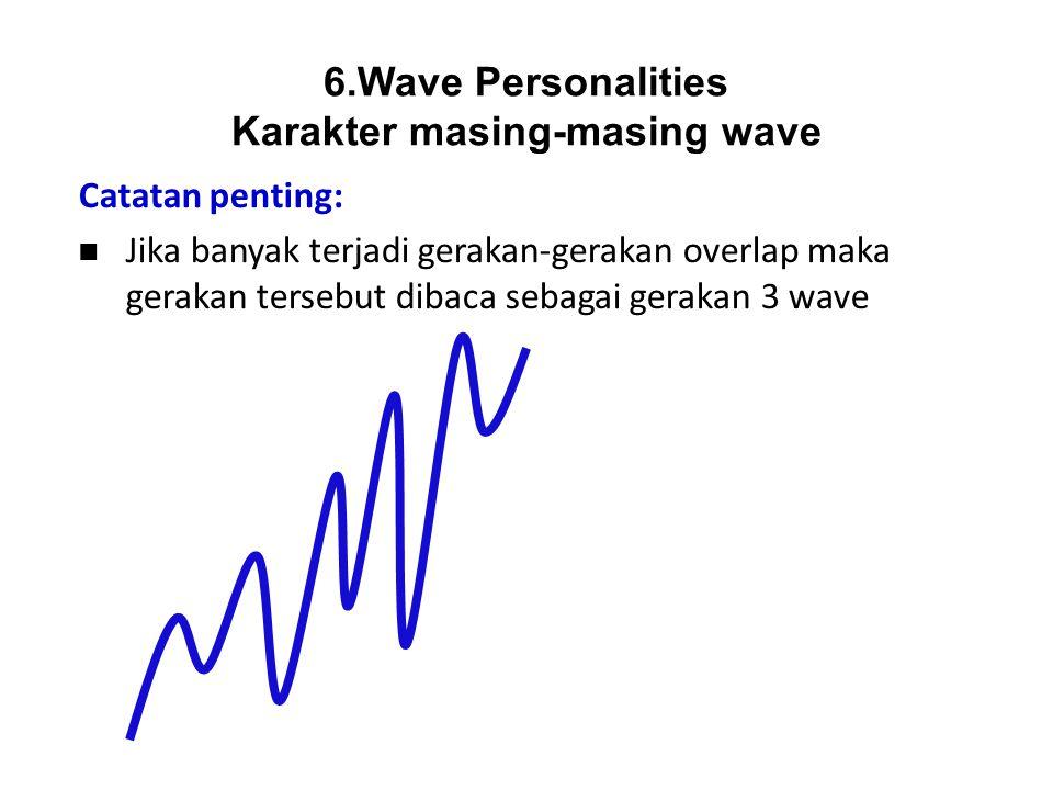 Catatan penting: Jika banyak terjadi gerakan-gerakan overlap maka gerakan tersebut dibaca sebagai gerakan 3 wave 6.Wave Personalities Karakter masing-