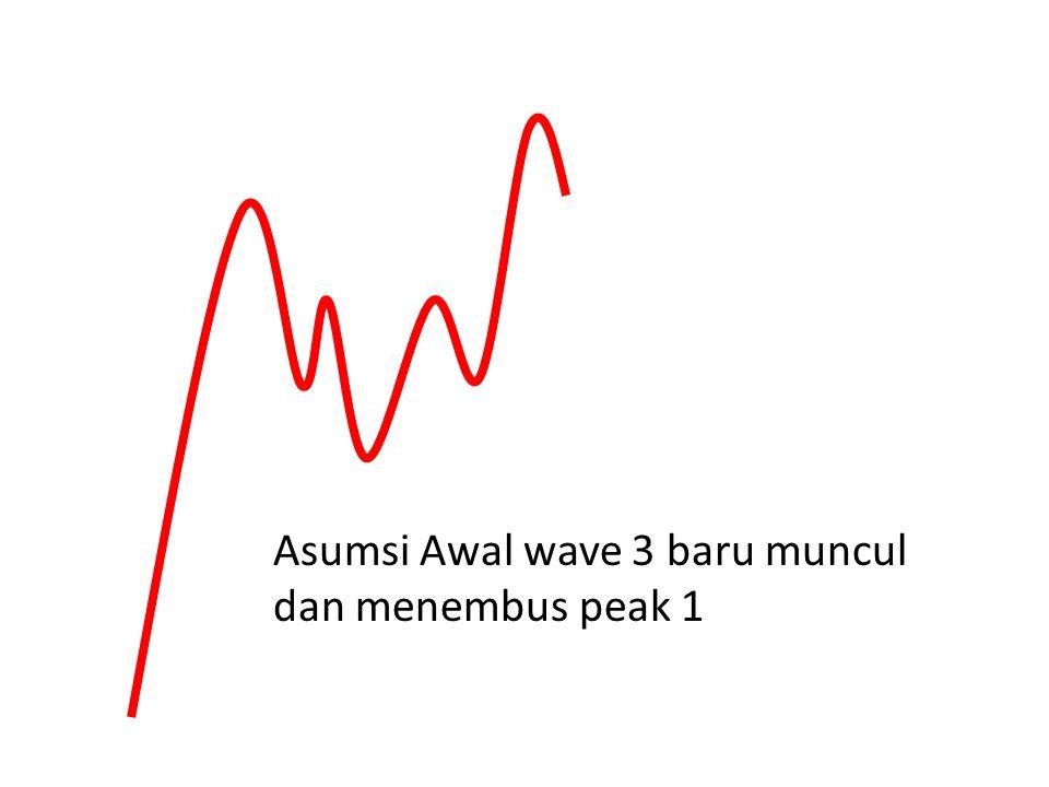 Asumsi Awal wave 3 baru muncul dan menembus peak 1