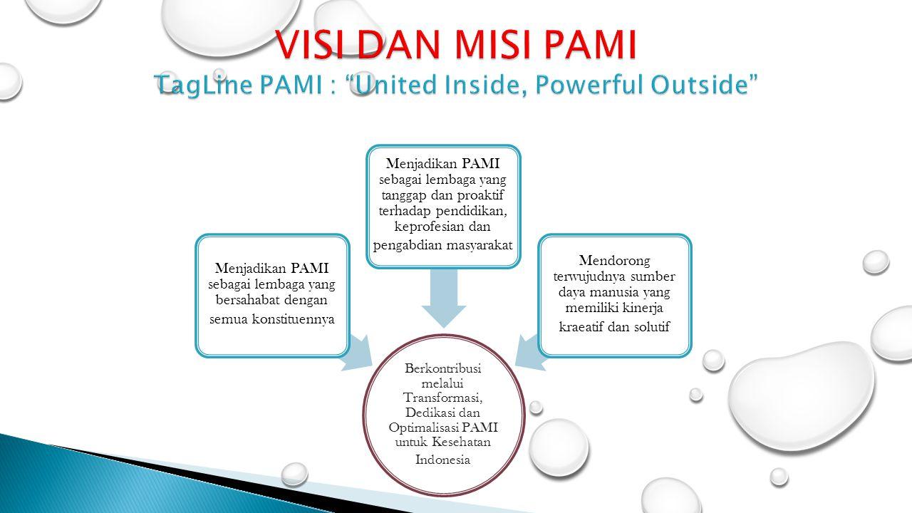Berkontribusi melalui Transformasi, Dedikasi dan Optimalisasi PAMI untuk Kesehatan Indonesia Menjadikan PAMI sebagai lembaga yang bersahabat dengan se
