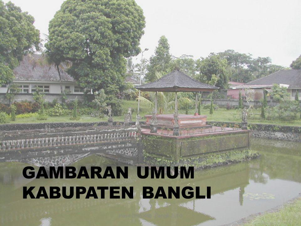 GAMBARAN UMUM KABUPATEN BANGLI Hasil DHA Kab. Bangli-2010