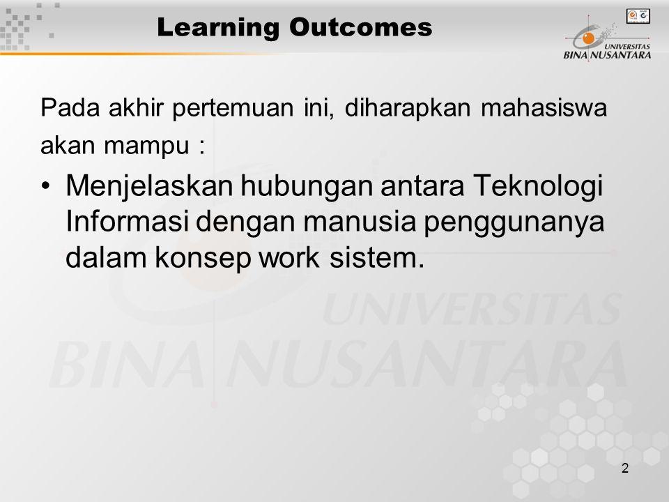 1 Pertemuan 8 Manusia dan hambatannya dalam penggunaan teknologi Matakuliah: H0472 / Konsep Sistem Informasi Tahun: 2006 Versi: 1
