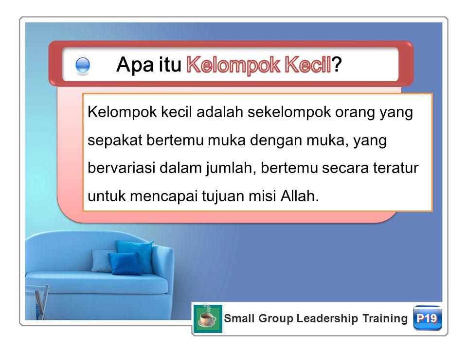 Small Group Leadership Training P19