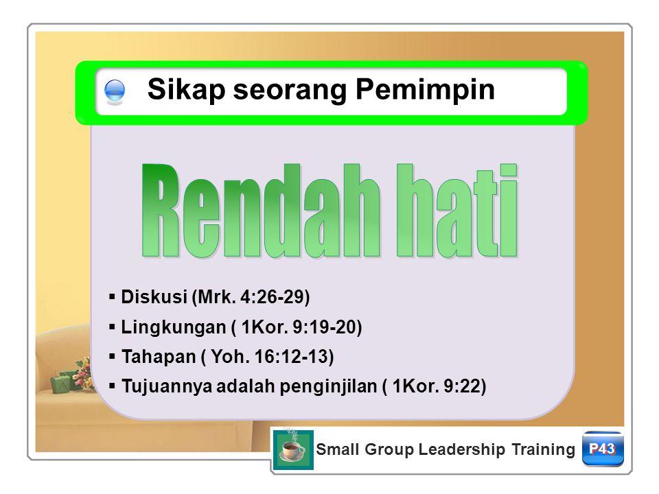 Small Group Leadership Training P43  Diskusi (Mrk.