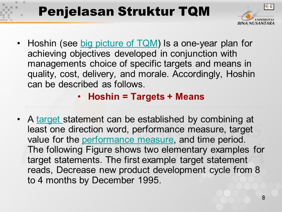 9 Figure for the Target Statement After determining a target based on this rule, the means for achieving the target should be determined.