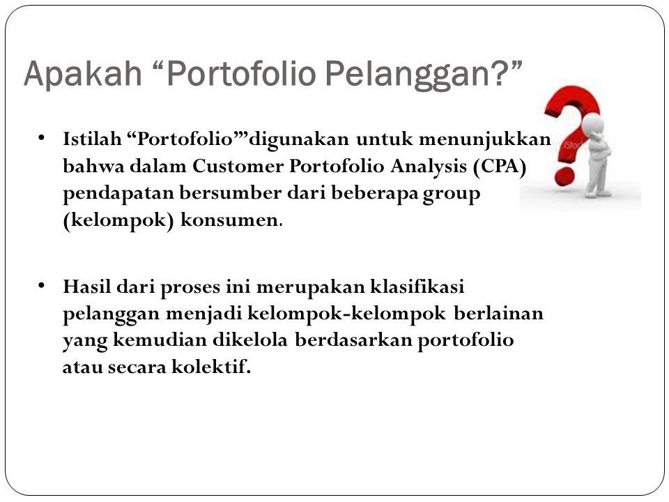 """Apakah """"Portofolio Pelanggan?"""" Istilah """"Portofolio'""""digunakan untuk menunjukkan bahwa dalam Customer Portofolio Analysis (CPA) pendapatan bersumber da"""