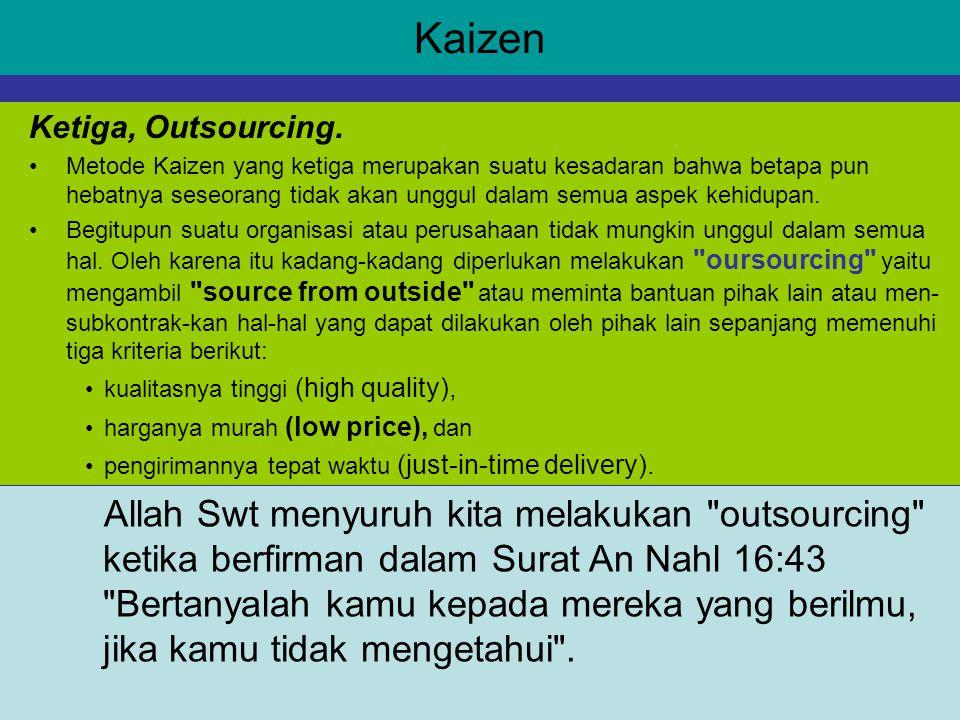 Kaizen Allah Swt menyuruh kita melakukan