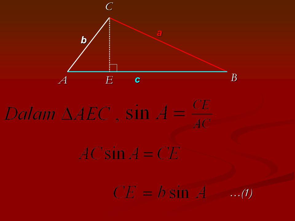 KESIMPULAN Rumus aturan sinus digunakan untuk menghitung unsur-unsur sebuah segitiga yang belum diketahui jika sebelumnya telah diketahui tiga unsur lainnya.