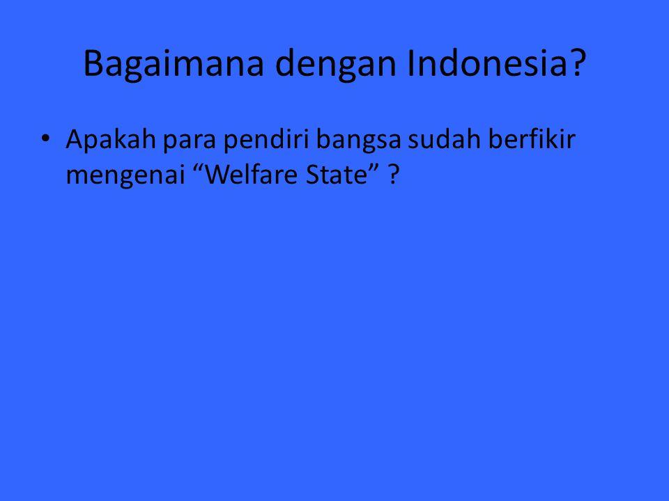 "Bagaimana dengan Indonesia? Apakah para pendiri bangsa sudah berfikir mengenai ""Welfare State"" ?"