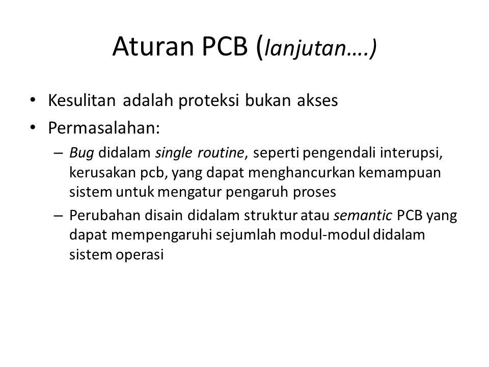 Aturan PCB ( lanjutan….) Kesulitan adalah proteksi bukan akses Permasalahan: – Bug didalam single routine, seperti pengendali interupsi, kerusakan pcb