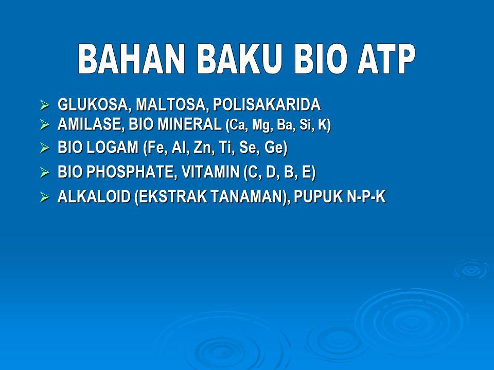 ATP ADENOSIN TRI PHOSPHATE (C 10 H 16 N 5 O 13 P 3 ) Senyawa enzime yang terbuat secara internal oleh metabolisme sel dalam tubuh manusia