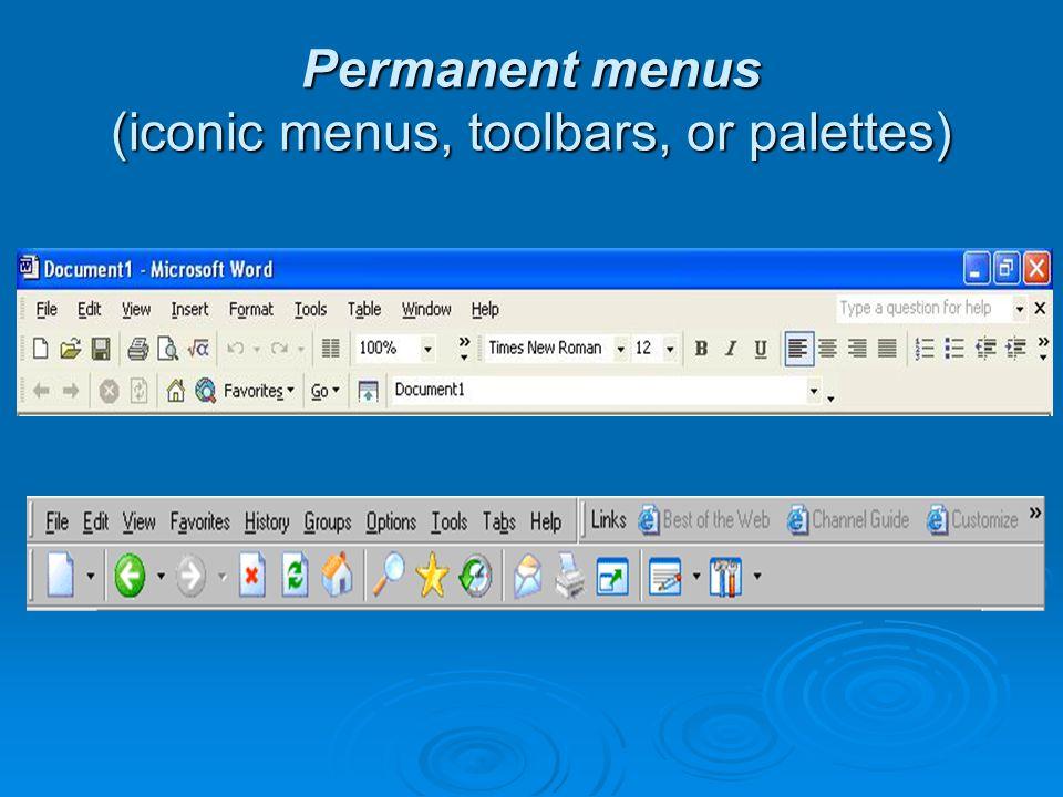 Multiple-selection menus (check boxes)