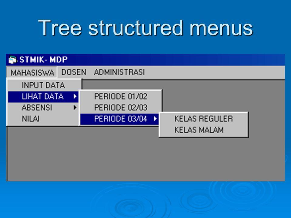 Keuntungan struktur  Proses belajar, pemecahan masalah, dan ingatan manusia dipermudah oleh struktur yang bermakna  Baik untuk task concept, computer concepts, dan rincian sintaktik bahasa perintah.