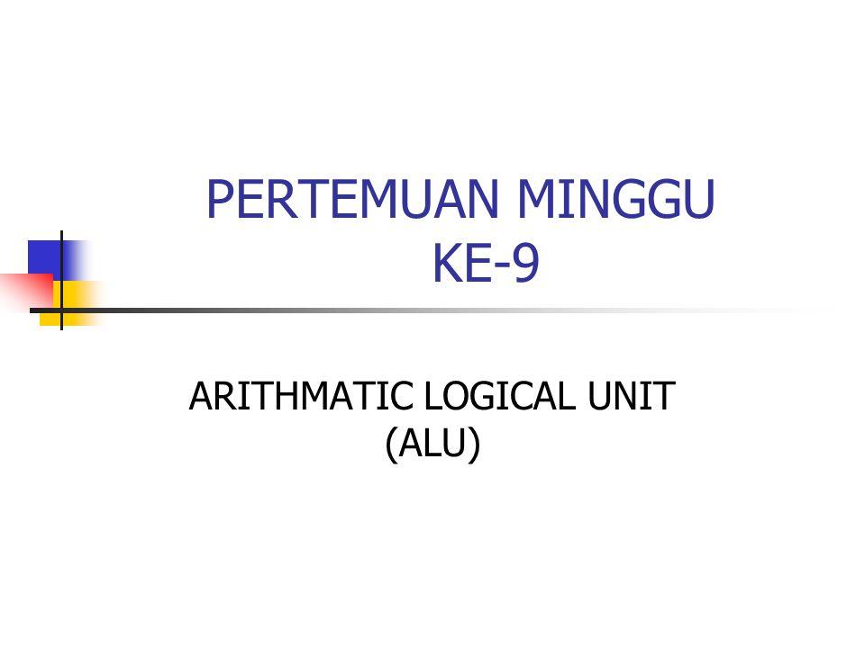 PERTEMUAN MINGGU KE-9 ARITHMATIC LOGICAL UNIT (ALU)