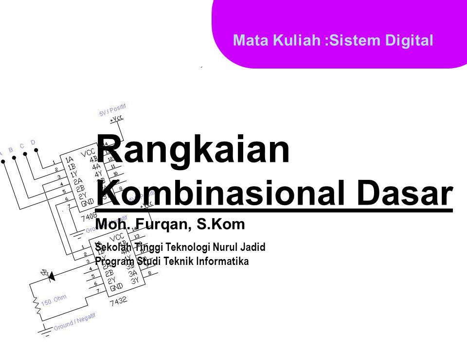 Rangkaian Kombinasional Dasar Mata Kuliah :Sistem Digital Moh. Furqan, S.Kom Sekolah Tinggi Teknologi Nurul Jadid Program Studi Teknik Informatika