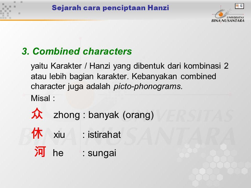 Sejarah cara penciptaan Hanzi 3.