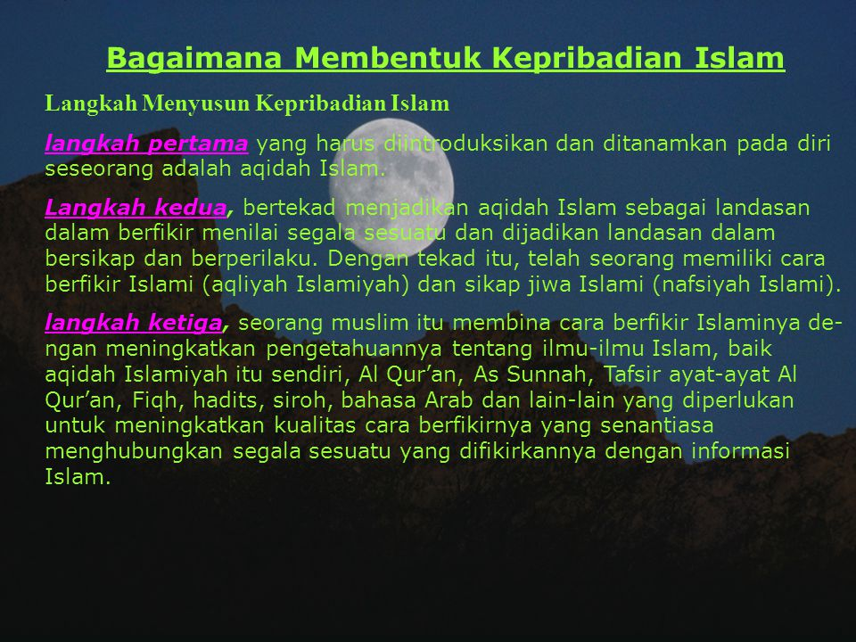 Islam Sebuah Sistem Kehidupan Untuk mengatur kehidupan ini, dapat diuraikan dalam 3 bagian: 1. Hubungan manusia dengan Tuhannya a. Aqidah: bagaimana m