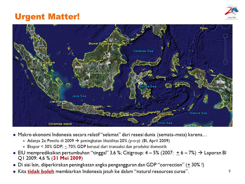 """9 Makro ekonomi Indonesia secara relatif """"selamat"""" dari resesi dunia (semata-mata) karena… Adanya 2x Pemilu di 2009  peningkatan likuiditas 20% (y-o-"""