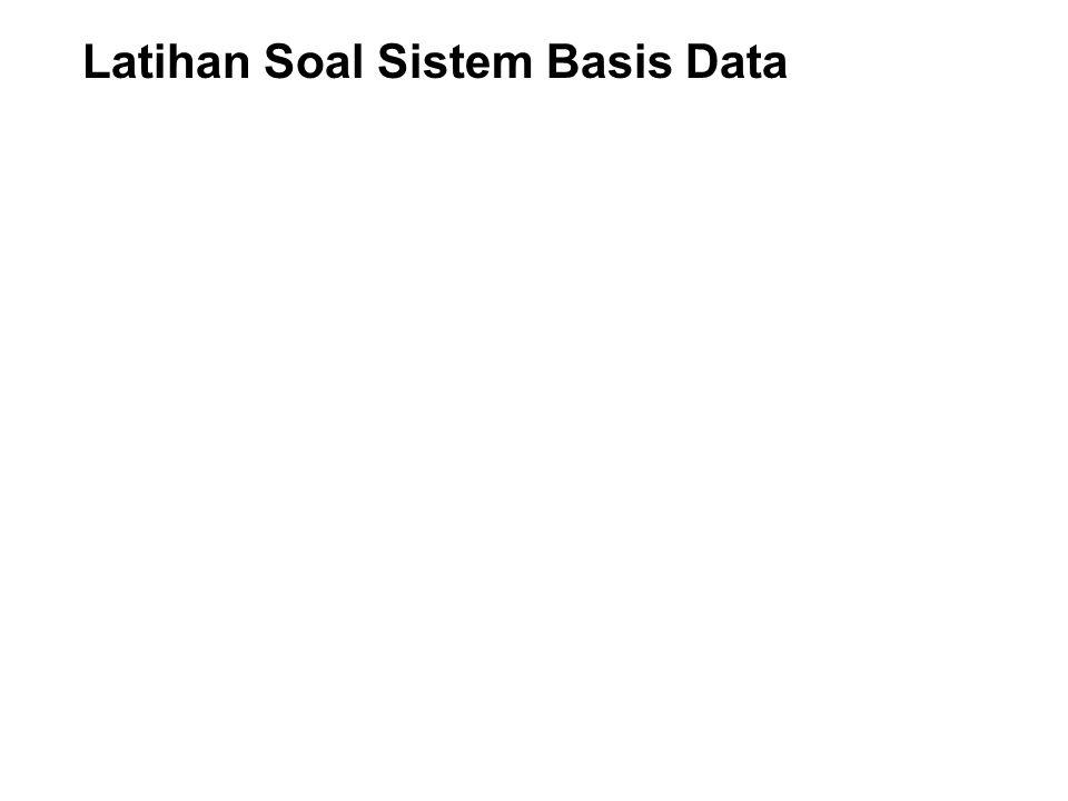1. Suatu sistem pengelolaan atau penyusunan data-data dengan menggunakan komputer yang digunakan untuk proses pengambilan keputusan disebut : a. Datab