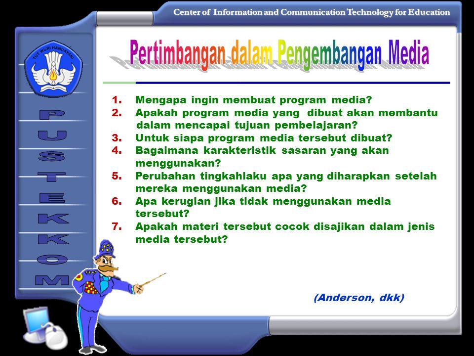 Center of Information and Communication Technology for Education Contoh IDENTIFIKASI PROGRAM 1.Judul/Topik:Berbicara Persuasif 2.Nomor Kode:PKBS /15/ 3.Mata Kuliah:Pengembangan Keterampilan Berbahasa dan Bersastra 4.Sasaran:Mahasiswa PGSD 5.Durasi:± 20 menit 6.Kompetensi Dasar:menggunakan bahasa yang baik dan benar untuk memupuk kemampuan berbicara.