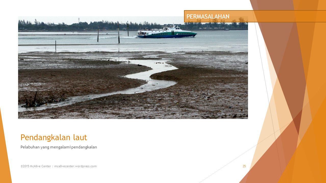 Pendangkalan laut Pelabuhan yang mengalami pendangkalan PERMASALAHAN ©2015 McAlive Center | mcalivecenter.wordpress.com25