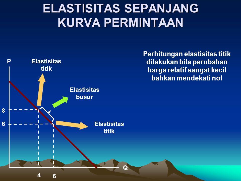 ANGKA  s DAN MAKNANYA Nilai  S KlasifikasiJenis Komoditi Bentuk Kurva 0inelastis sempurna primari, jangka sangat pendek vertikal 0  S  1 inelastisprimaricuram  1 elastisindustrilandai  elastis sempurna -horisontal