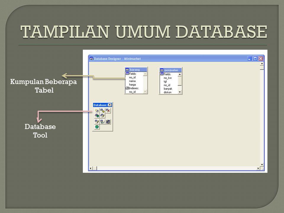 Kumpulan Beberapa Tabel Database Tool