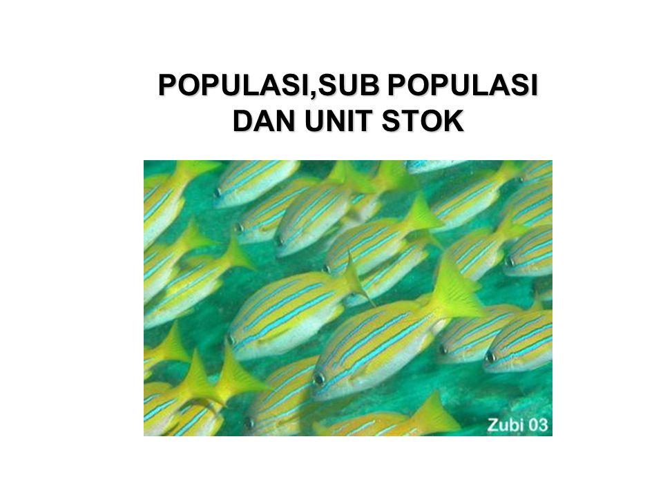 Istilah dan Definisi Suatu populasi bisa terdiri dari unit-unit/sub populasi yang membangun populasi.
