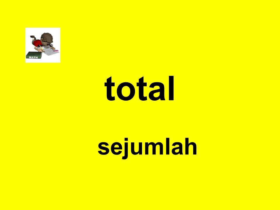 total sejumlah