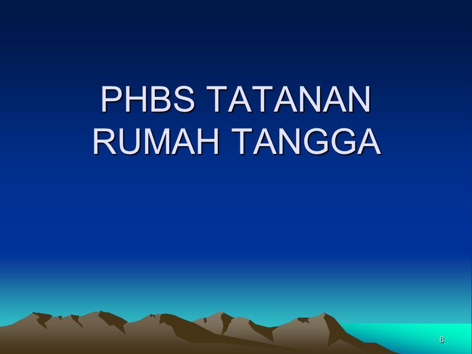 8 PHBS TATANAN RUMAH TANGGA