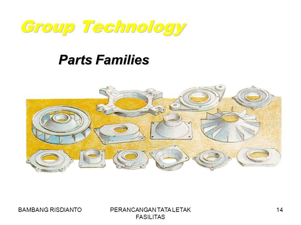 BAMBANG RISDIANTOPERANCANGAN TATA LETAK FASILITAS 14 Group Technology Parts Families