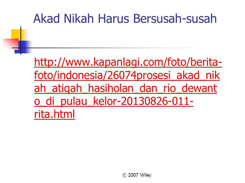 Akad Nikah Harus Bersusah-susah http://www.kapanlagi.com/foto/berita- foto/indonesia/26074prosesi_akad_nik ah_atiqah_hasiholan_dan_rio_dewant o_di_pul