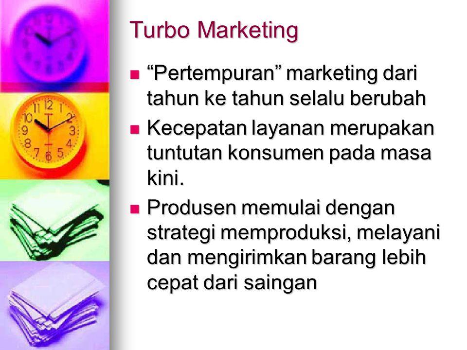 "Turbo Marketing ""Pertempuran"" marketing dari tahun ke tahun selalu berubah ""Pertempuran"" marketing dari tahun ke tahun selalu berubah Kecepatan layana"