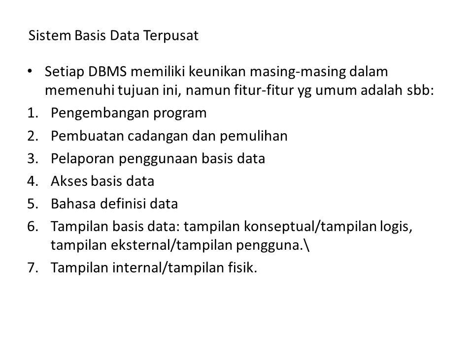 Tiga Model DBMS 1.Model Hierarkis, adalah metode yg populer utk representasi data krn model ini mencerminkan byk aspek perusahaan yg hubungannya bersifat hierarkis.