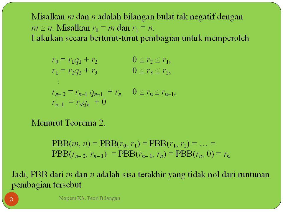 Nopem KS. Teori Bilangan 3