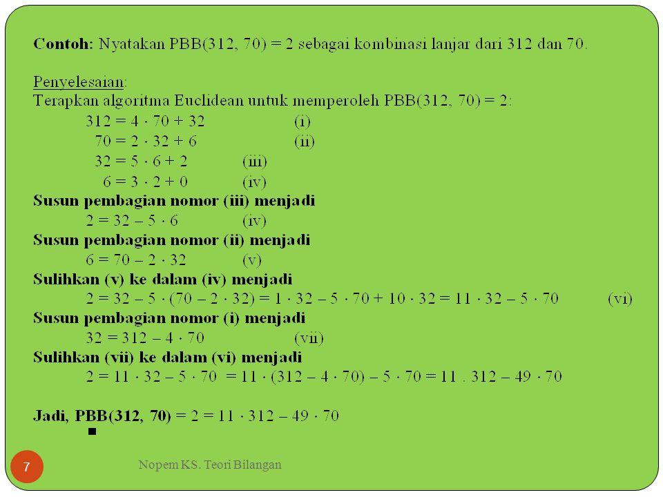 Nopem KS. Teori Bilangan 7