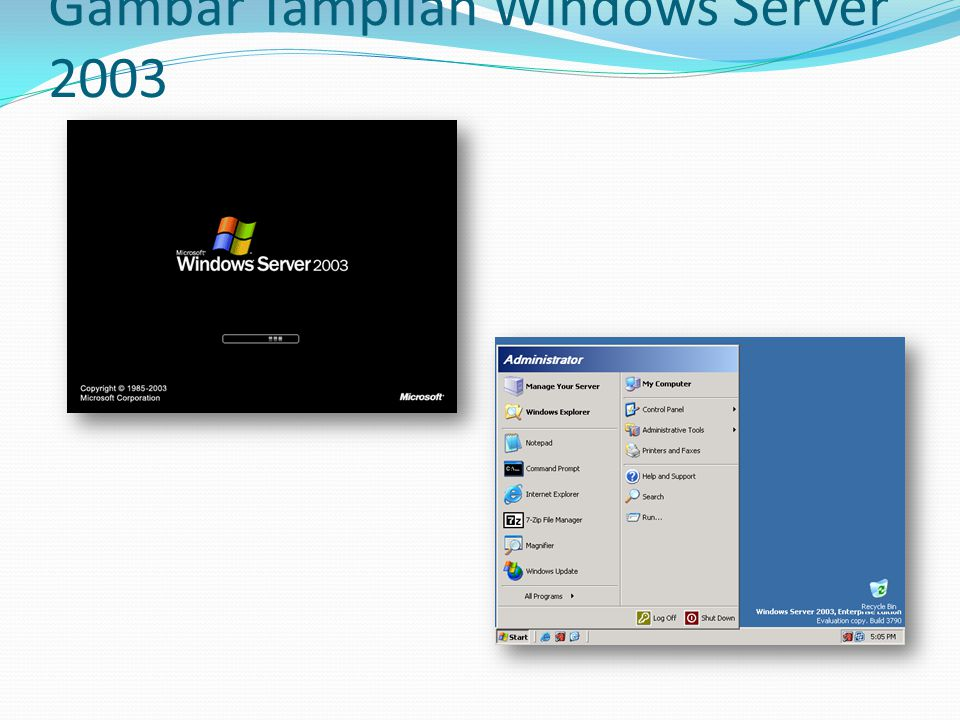 Gambar Tampilan Windows Server 2003
