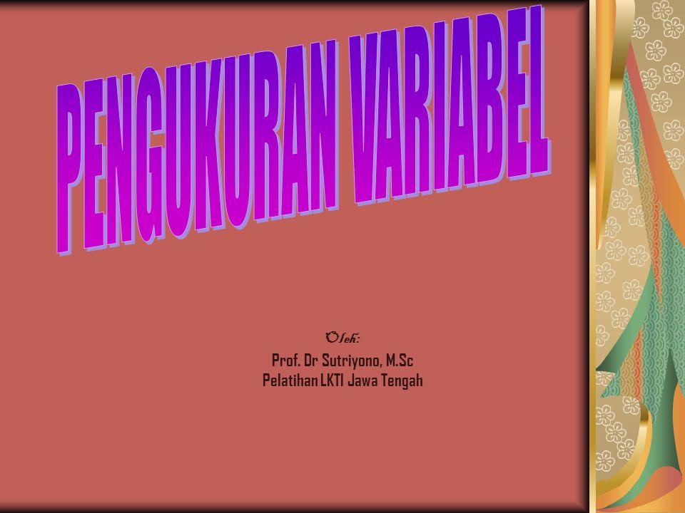 Oleh: Prof. Dr Sutriyono, M.Sc Pelatihan LKTI Jawa Tengah