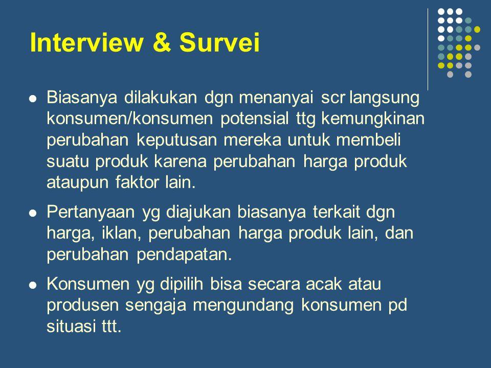 Kelemahan metode interview & survei: 1.