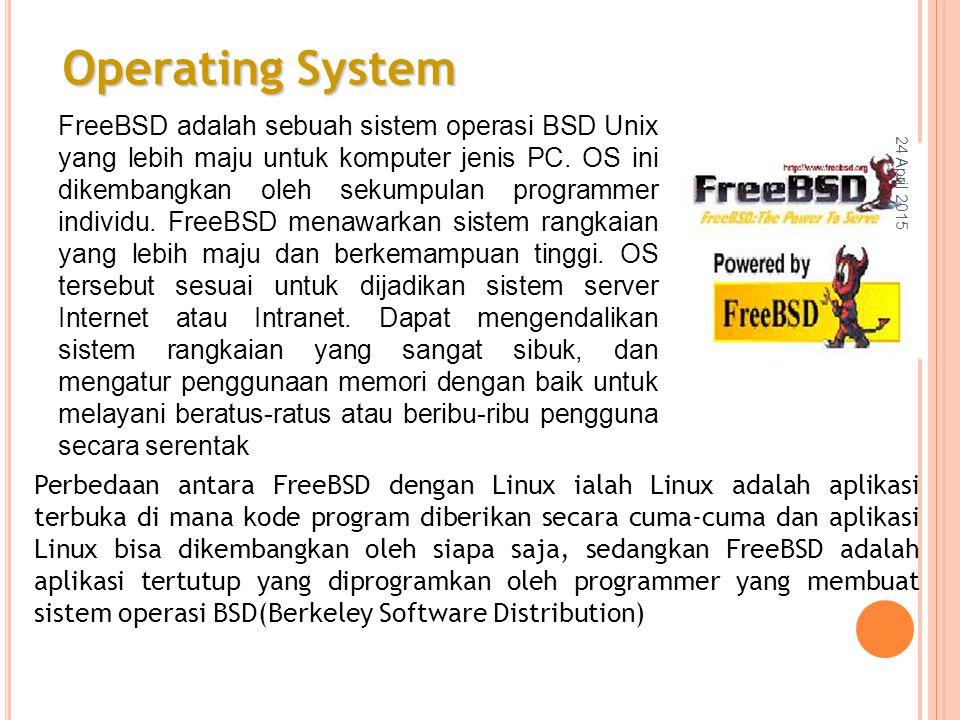 FreeBSD adalah sebuah sistem operasi BSD Unix yang lebih maju untuk komputer jenis PC.